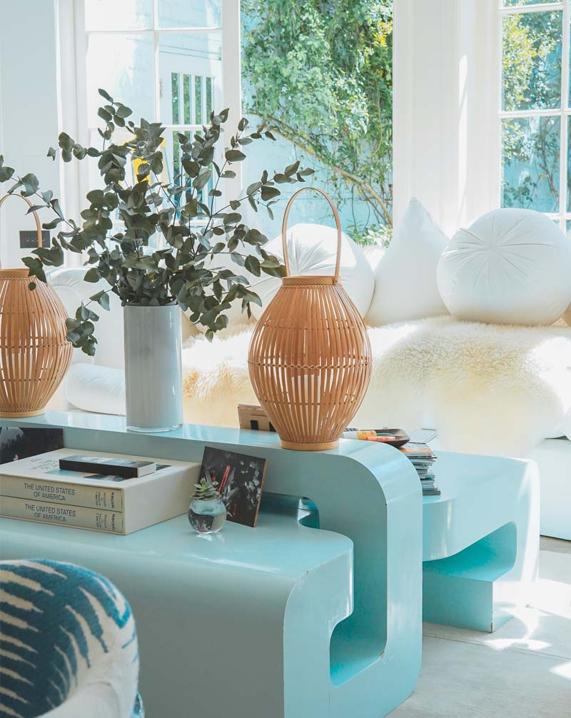 Picture of wicker vases in a bright house that you can buy with a Jumbo loan